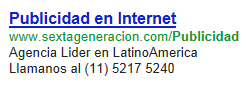 Anuncio de Google Adwords